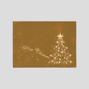 Golden Christmas 5'x7'Area Rug