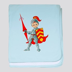 Let's Go Medieval - Jolly Good Knight baby blanket