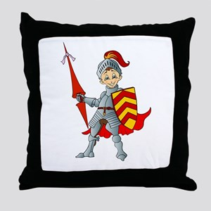 Let's Go Medieval - Jolly Good Knight Throw Pillow