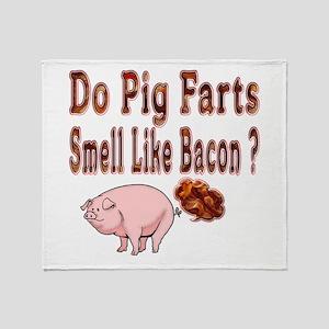 Pig Farts Throw Blanket