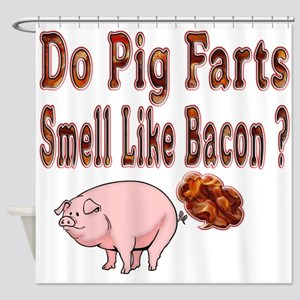 Pig Farts Shower Curtain