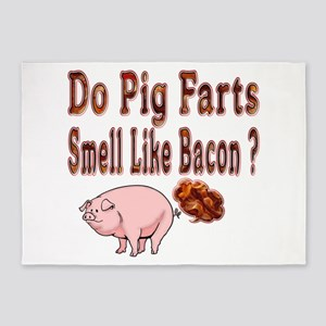 Pig Farts 5'x7'area Rug