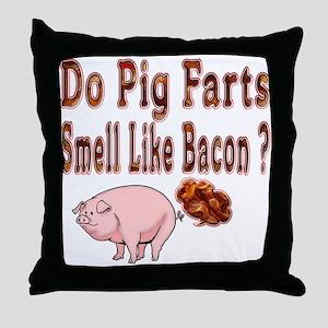 Pig Farts Throw Pillow