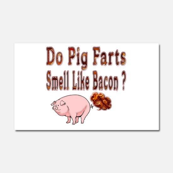 Pig Farts Car Magnet 20 X 12