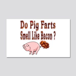Pig Farts 20x12 Wall Decal