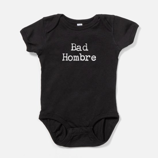Bad Hombre Stacked Baby Bodysuit