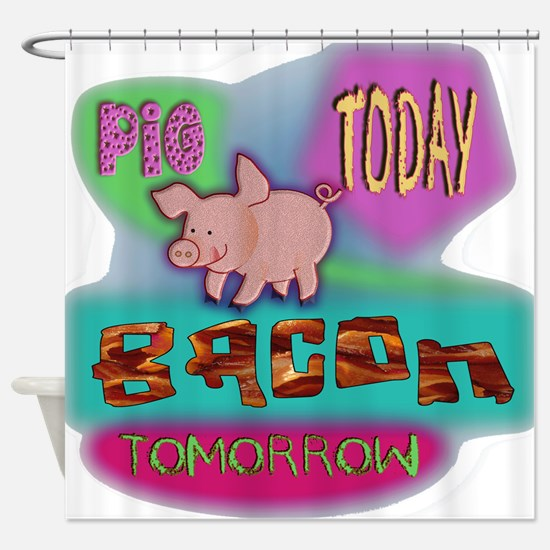 Pig Today Shower Curtain