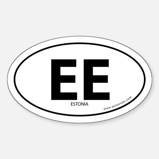 Estonia country bumper sticker -White (Oval)