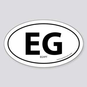 Egypt country bumper sticker -White (Oval)