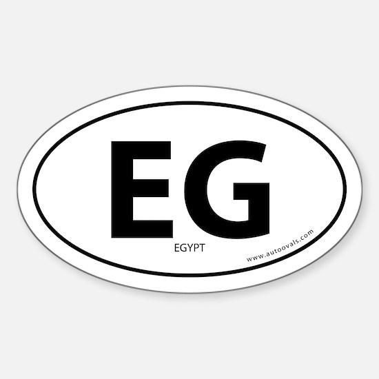 Egypt country bumper sticker -White (Oval)
