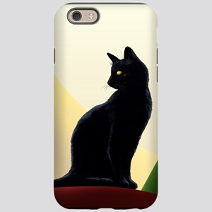 Black Cat Oh Puss No1 iPhone 6/6s Tough Case