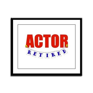 Retired Actor Framed Panel Print