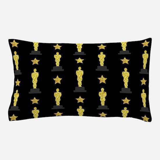 Gold Oscar Statue Pillow Case