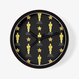 Gold Oscar Statue Wall Clock