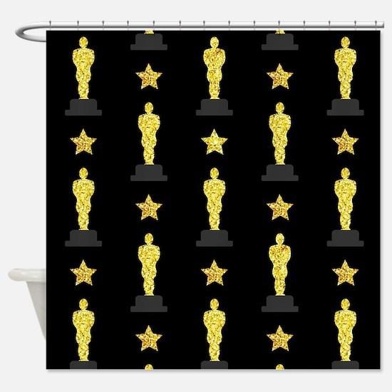Gold Oscar Statue Shower Curtain