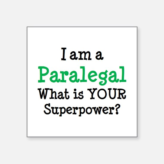 "paralegal Square Sticker 3"" x 3"""