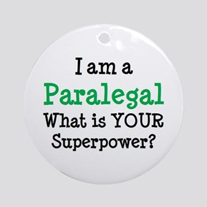 paralegal Round Ornament