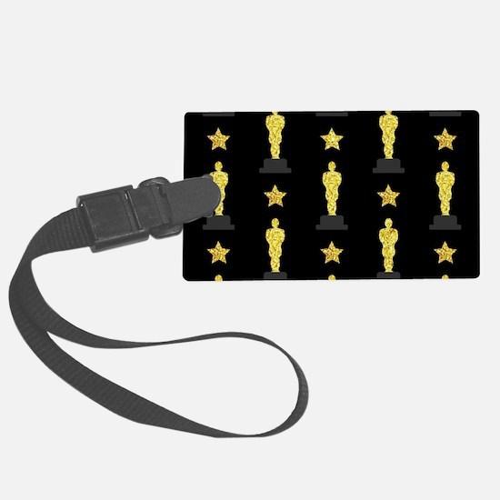 Gold Oscar Statue Luggage Tag