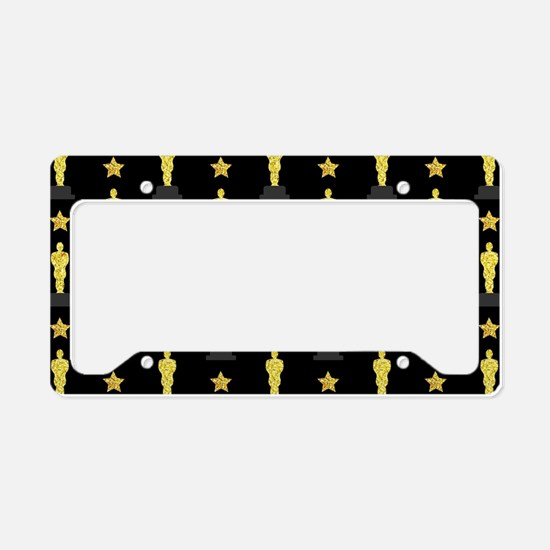 Gold Oscar Statue License Plate Holder