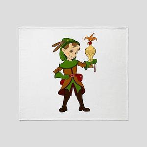 Let's Go Medieval - Fun Falconer Throw Blanket