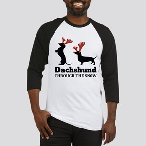 Dachshund Through the snow Baseball Jersey