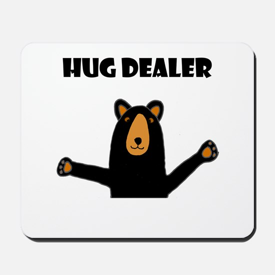 Fun Hug Dealer Bear Mousepad