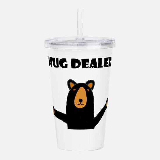 Fun Hug Dealer Bear Acrylic Double-wall Tumbler