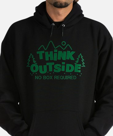 Think Outside No Box Required Hoodie (dark)