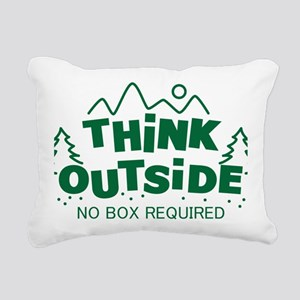 Think Outside No Box Req Rectangular Canvas Pillow