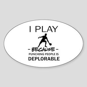 I play table tennis Sticker