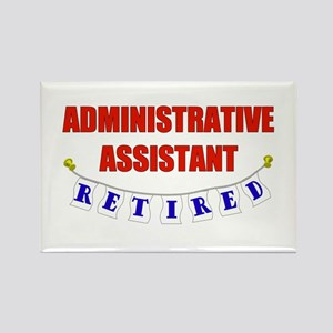 Retired Administrative Assist Rectangle Magnet