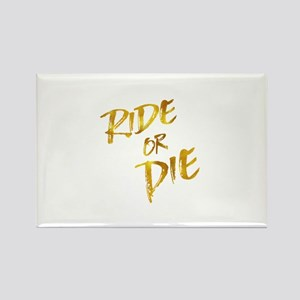 Ride or Die Gold Faux Foil Metallic Motiva Magnets