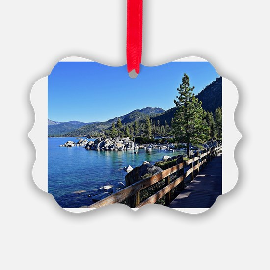 Unique Lake tahoe Ornament