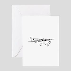 c172 Greeting Cards