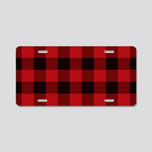 Cottage Buffalo Plaid Lumb Aluminum License Plate