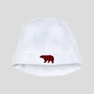 lumberjack buffalo plaid Bear baby hat