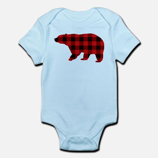 lumberjack buffalo plaid Bear Body Suit