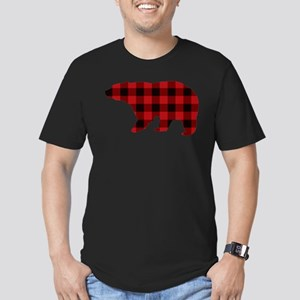 lumberjack buffalo plaid Bear T-Shirt