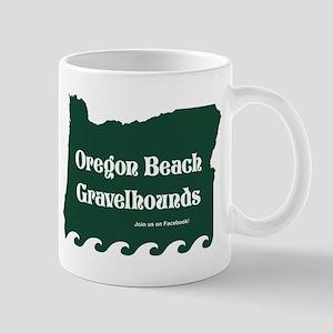 Oregon Beach Gravelhounds Green 11oz Mugs