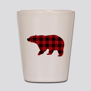 lumberjack buffalo plaid Bear Shot Glass