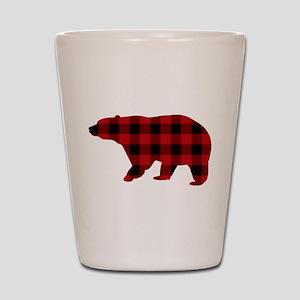 lumberjack buffalo plaid Bear Shot Glass