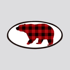 lumberjack buffalo plaid Bear Patch