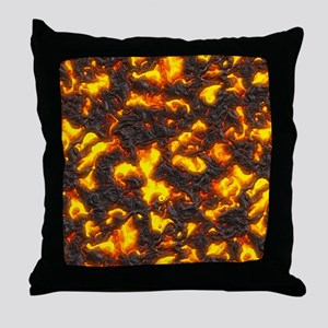 Hot Lava Throw Pillow