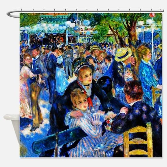 Renoir: Dance at Le Moulin de la Ga Shower Curtain