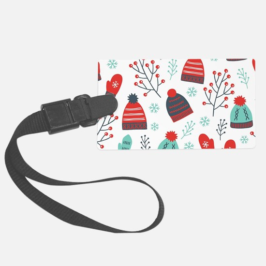 Christmas Hats, Mittens & Wi Luggage Tag