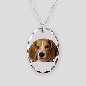 Beagle Necklace Oval Charm