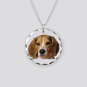 Beagle Necklace Circle Charm