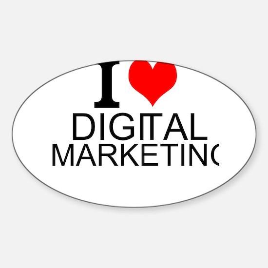 I Love Digital Marketing Decal