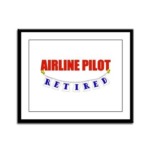 Retired Airline Pilot Framed Panel Print
