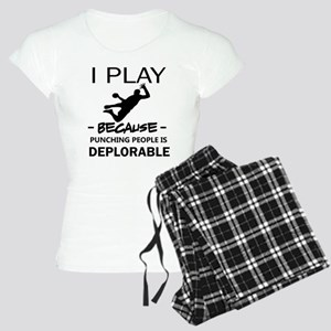 I play Handball Women's Light Pajamas